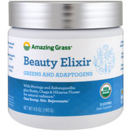 Amazing Grass, Beauty Elixir, Greens And Adaptogens, 4.9 oz (140 g)