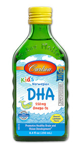 Carlson Kid's Norwegian DHA Omega-3s Natural Lemon - 550 mg - 8.4 fl oz