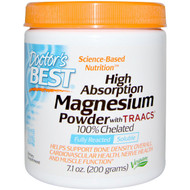 Doctors Best, High Absoprtion Magnesium Powder, with TRAACS, 7.1 oz (200 g)