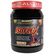 ALLMAX Nutrition, Isoflex, 100% Ultra-Pure Whey Protein Isolate (WPI Ion-Charged Particle Filtration), Chocolate, 0.9 lbs (425 g)