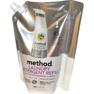 Method, Laundry Detergent Refill, 85 Loads, Free + Clear, 34 fl oz (1020 ml)