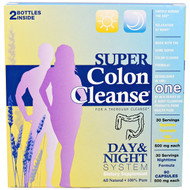 Health Plus Inc., Super Colon Cleanse, Day & Night System, 2 Bottle Kit