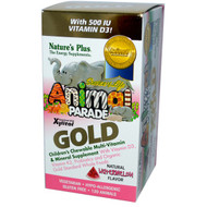 Natures Plus, Source of Life, Animal Parade Gold, Childrens Chewable Multi-Vitamin & Mineral, Watermelon, 120 Animals