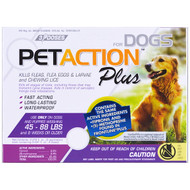 PetAction Plus, For Large Dogs, 3 Doses - 0.091 fl oz Each