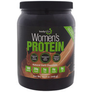 Bodylogix, Womens Protein Powder, Natural Dark Chocolate, 15.8 oz (448 g)