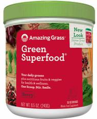 Amazing Grass Green SuperFood Drink Powder Berry - 8.5 oz