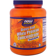 Now Foods, Grass-Fed Whey Protein Concentrate, Creamy Vanilla , 1.2 lbs (544 g) (Discontinued Item)