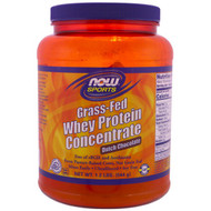 Now Foods, Grass-Fed Whey Protein Concentrate, Dutch Chocolate, 1.2 lbs (544 g)