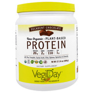 Natural Factors, VegiDay, Raw Organic, Plant-Based Protein, Decadent Chocolate, 17.14 oz (486 g)