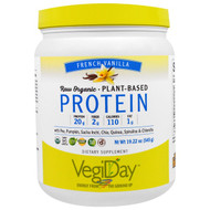 Natural Factors, Raw Organic, Plant-Based Protein, French Vanilla, 19.22 oz (545 g)
