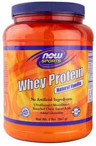 NOW Sports Whey Protein Natural Vanilla -- 2 lbs