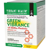 Vibrant Health, Green Vibrance, Version 13.0, 15 Packets, 6.4 oz (181.5 g)