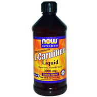 Now Foods, L-Carnitine Liquid, Triple Strength, Citrus Flavor, 3,000 mg, 16 fl oz (473 ml)