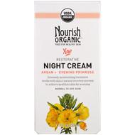 Nourish Organic, Restorative, Night Cream, Argan + Evening Primrose, Normal to Dry Skin, 1.7 oz (50 ml)