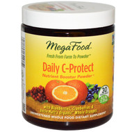 MegaFood, Daily C-Protect Nutrient Booster Powder, Unsweetened, 2.25 oz (63.9 g)