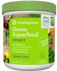 Amazing Grass Green SuperFood Drink Powder Lemon Lime - 7.4 oz