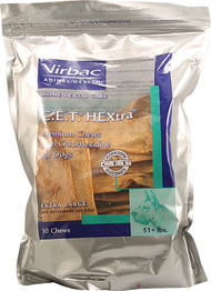 Virbac C.E.T. HEXtra Chews For Dogs - Extra Large - 30 Chewables