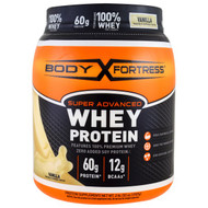 Body Fortress, Super Advanced Whey Protein Powder, Vanilla, 2 lbs (907 g)