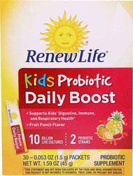 Renew Life Kids Probiotic Daily Boost Fruit Punch - 30 Packets
