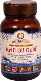 NutriGold Krill Oil Gold - 500 mg - 60 Liquid Capliques