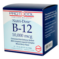 Protocol For Life Balance Nutri-Dose B-12 Mixed Berry - 10000 mcg - 12 Vials