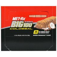 MET-R|X, Big 100 Colossal, Meal Replacement Bar, Chocolate Caramel Coconut, 9 Bars, 3.52 oz (100 g) Each