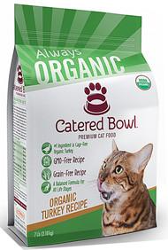 Catered Bowl Always Organic Premium Dry Cat Food Turkey Recipe - 7 lbs