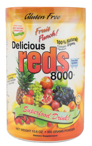 Greens World Inc. Delicious Reds 8000 Fruit Punch - 10.6 oz