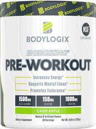 Bodylogix Energizing Pre-Workout Crisp Apple - 30 Servings