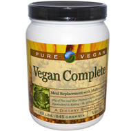 Pure Advantage Vegan Complete Meal Replacement Vanilla - 1.42 lbs