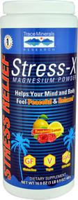 Trace Minerals Research Stress-X Magnesium Powder Dietary Supplement Raspberry Lemon -- 16.9 oz