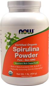 Now Foods, Certified Organic Spirulina Powder, 1 lb (454 g)