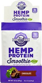 Manitoba Harvest Hemp Protein Smoothie Plus Greens Chocolate - 12 Packets