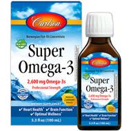 Carlson Labs, Super Omega-3, Natural Lemon Flavor, 2600 mg, 3.3 fl oz (100 ml)