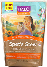Halo Purely For Pets, Spots Stew Grain Free Cat Formula, Hearty Chicken - 6 lbs