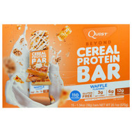 Quest Nutrition, Beyond Cereal Protein Bar, Waffle, 15 Bars, 1.34 oz (38 g) Each