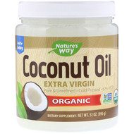 Natures Way, Organic, Coconut Oil, Extra Virgin, 2 lbs (896 g)