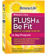 Renew Life Flush & Be Fit Women's Care Gentle Cleanse & Detox - 14 Daily Strip Packs