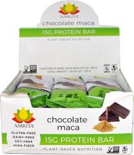 Amrita 15G Protein Bar Gluten Free Chocolate Maca -- 12 Bars