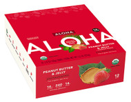 Aloha Organic Protein Bar Peanut Butter & Jelly - 12 Bars