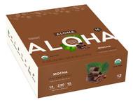 Aloha Organic Protein Bar Mocha - 12 Bars