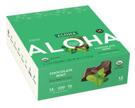 Aloha Organic Protein Bar Chocolate Mint - 12 Bars