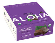 Aloha Organic Protein Bar Chocolate Fudge Brownie - 12 Bars
