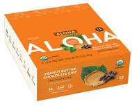 Aloha Organic Protein Bar Peanut Butter Chocolate Chip - 12 Bars