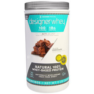 Designer Protein, Designer Whey, Natural 100% Whey Protein, Double Chocolate, 2 lbs (908 g)