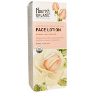 Nourish Organic, Lightweight Moisturizing Face Lotion, Argan + Rosewater, 1.7 fl oz (50 ml)