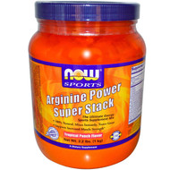 Now Foods, Sports, Arginine Power Super Stack, Tropical Punch Flavor, 2.2 lbs. (1
