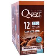 Quest Nutrition, Protein Powder, Chocolate Milkshake, 12 Pouches, 1.09 oz (31 g) Each