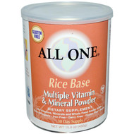 All One (Nutritech), Rice Base, Multiple Vitamin & Mineral Powder, 15.9 oz (450 g)