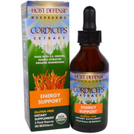 Fungi Perfecti, Host Defense Mushrooms, Organic Cordyceps Extract, Energy Support, 2 fl oz (60 ml)